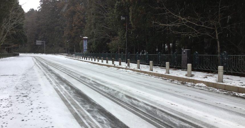 奥の院前 道路状況