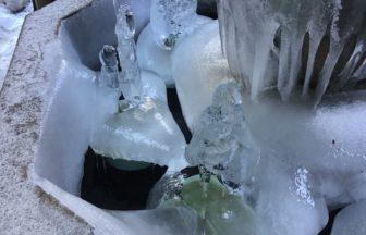 氷柱が 鍾乳洞のようです❄️