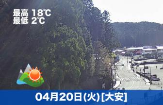 おはようございます☀今日の高野山は気温も高めで、晴れが期待できそうです😊