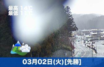 おはようございます☔本日の高野山は雨です。気温も高くもう春ですね😉