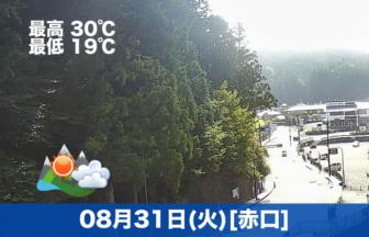 おはようございます🌄今日の高野山は晴れのちくもりの予報です。8月も最終日ですね。