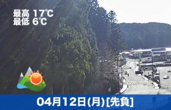 おはようございます☀今日の高野山は晴れで気温も高めです。