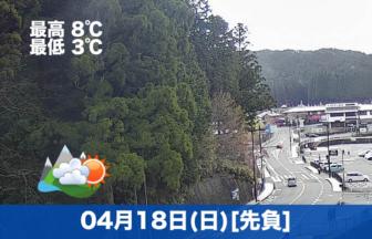 おはようございます☀本日の高野山は晴れの予報です。天気は良いですが、気温が低いですので、羽織るものをお持ちになるのをおすすめします。