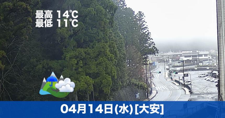 おはようございます☔今日の高野山は雨模様です。気温も含めです。