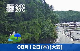 おはようございます☔本日の高野山は雨模様です。気温は低めですので過ごしやすそうです😊