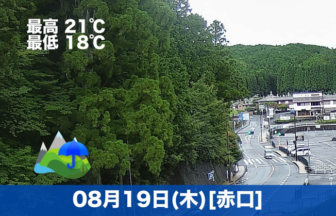 おはようございます☔今日の高野山は雨の予報です。気温は21℃で涼しい1日になりそうです😊