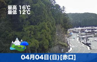 おはようございます☔今日の高野山の予報です😊少し奥の院前の駐車場にお参りの車がありますね。
