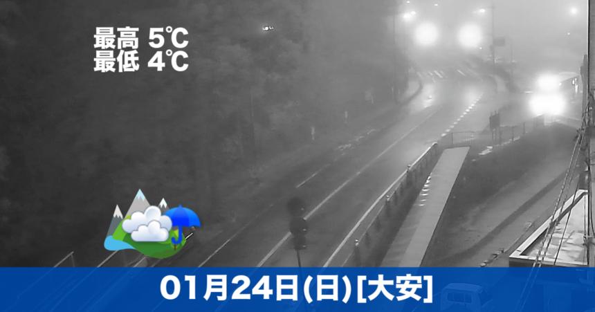 おはようございます☁気温が高めで、今は少し霧がかかっています。