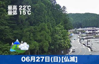 おはようございます☔今日は小雨と曇り空。涼しい日になりそうです。