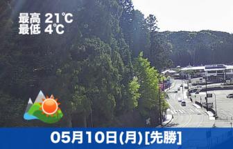 おはようございます☀今日の高野山は晴れです。今日も気温が高く過ごしやすいです😊