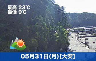 おはようございます☀今日の高野山は気温も高く良いお天気になりそうです😊