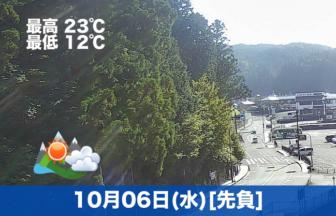 こんにちは🌞☁今日の高野山は、晴れのち曇りの予報です☺
